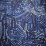 A Soul's Algorithm (2018) - 114,5x88,5 cm. pitt. acr. su tela