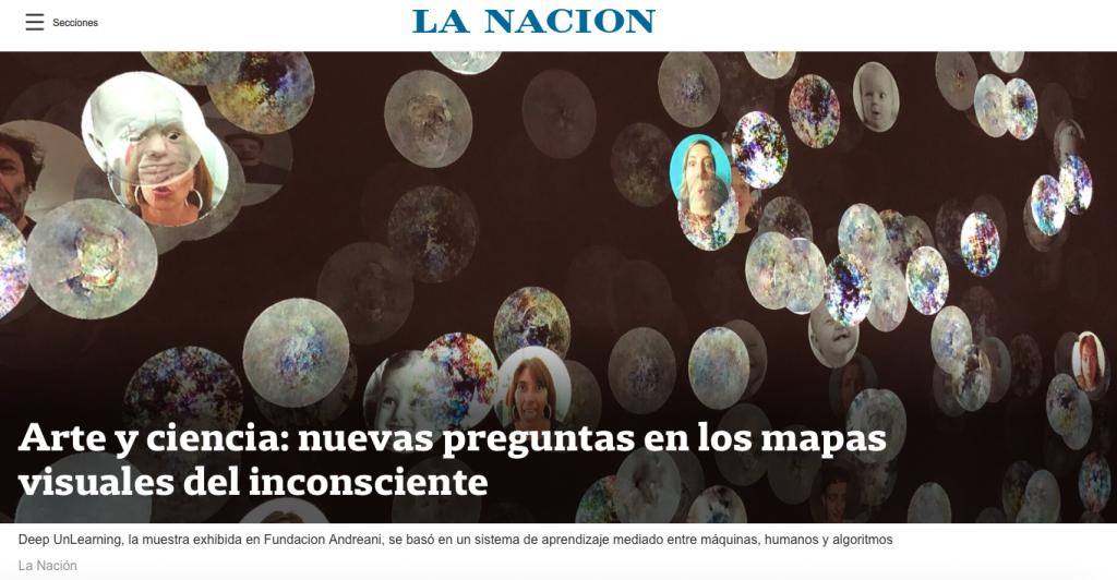"""Mariano Sardón   """"Arte y ciencia: nuevas preguntas en los mapas visuales del incosciente""""   La Nacion"""