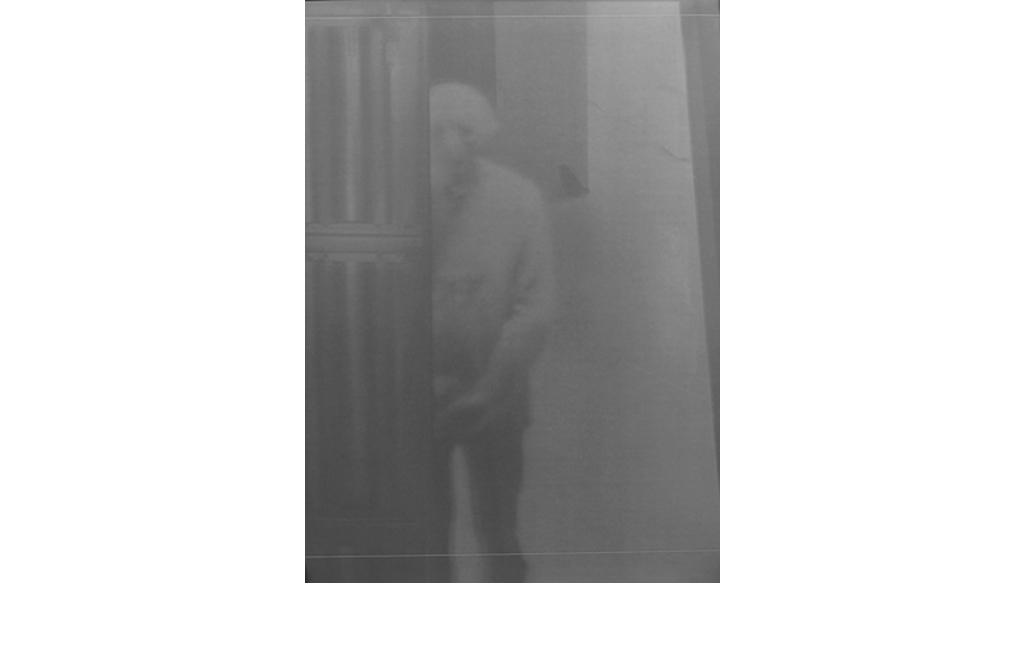 Fabio Sandri, Self-portrait of long times 026, 2010 - Virgin photographic paper, contact printed photographs, 1: 1 size