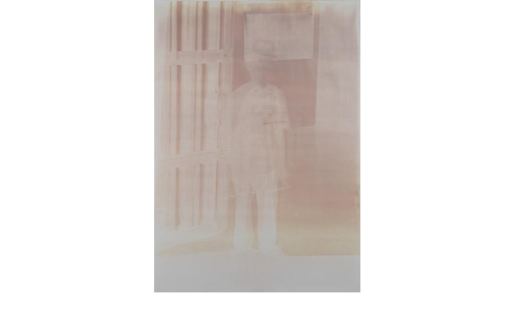 Fabio Sandri, Self-portrait of long times 005 (Negative), 2010 - Virgin photographic paper, contact printed photographs, 1: 1 size