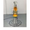 Mo Kong, Sower, 2018 - Lampada lava, urina, plexiglass, vetro, miele, vinile, EcoSphere, 167 x 167 x 231 cm