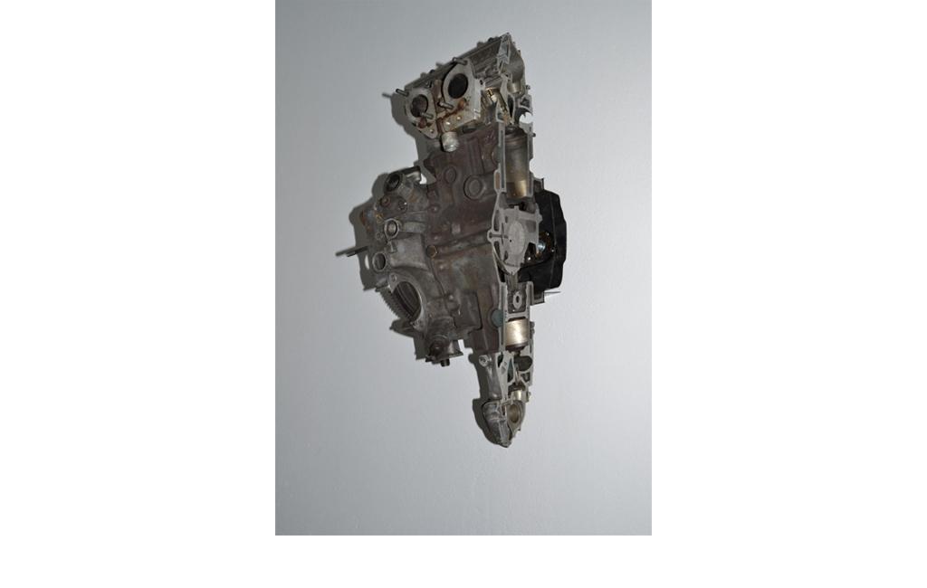 Fabio Sandri, Motor, 2005 - Part of Alfa Romeo 33 1600 engine, photographic paper in continuous impression