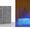 Fabio Sandri, Filter, 2015 - Concrete blocks, Loop video projection on photosensitive paper, Photography