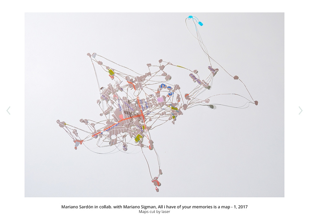 Mariano Sardón in collab. con Mariano Sigman, All i have of your memories is a map - 1, 2017