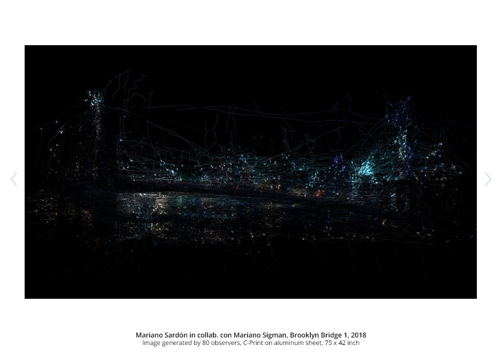 Mariano Sardón in collab. con Mariano Sigman, Brooklyn Bridge 1, 2018